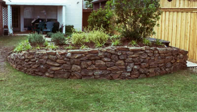 Retaining Wall (Natural Stone Construction)
